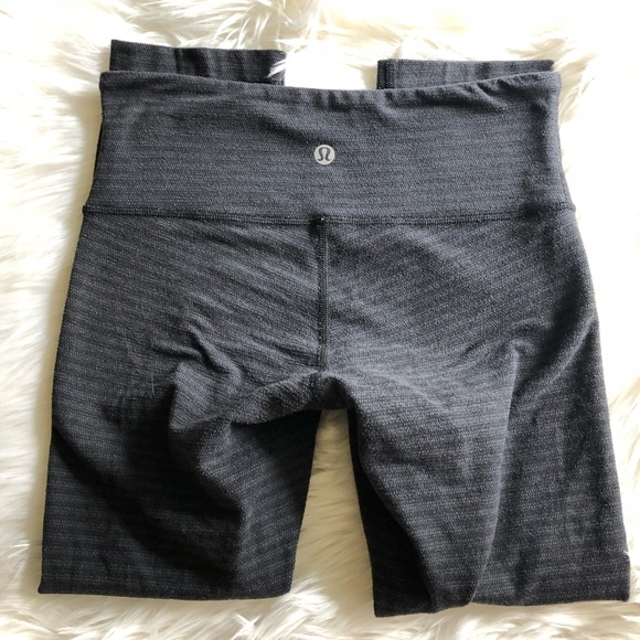ec6e9beb3 lululemon athletica Pants - Lululemon Wunder Under Crop Textured Stripe  Slate